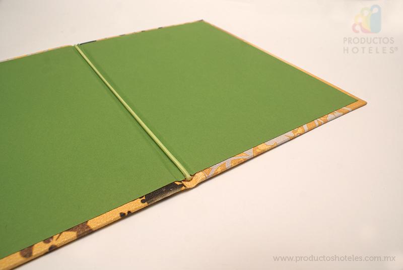 Porta menú cartón rígido con listón